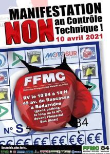 Manifestation NON au contrôle technique - FFMC 84 - Bédarrides (84) @ Bédarrides (84)