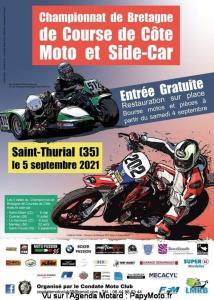 Championnat de Bretagne de course de côte Moto et Side Car - Saint-Thurial (35) @ Saint-Thurial (35)