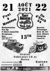 Crazy Américan Week-End – Pont à Mousson (54) @ Pont à Mousson (54)