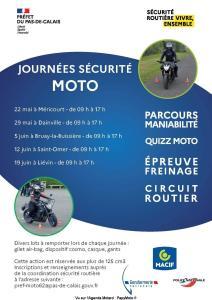 Journée sécurité Moto - Méricourt - Dainville - Bruay la Buissière - Saint-Omer - Liévin (62) @ Méricourt - Dainville - Bruay la Buissière - Saint-Omer - Liévin (62)