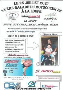 14e Balade du Motocoeur 28 – La Loupe (28) @ La Loupe (28)