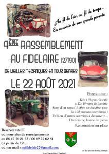 4e rassemblement de vieilles mécaniques - Le Fidelaire (27) @ Le Fidelaire (27)