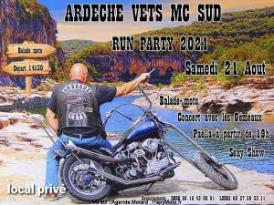 Run Party -Ardèche Vets MC Sud – Largentière (07) @ Largentière (07)