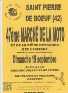 47e Marché de la Moto – Saint Pierre de Boeuf (42) @ Saint Pierre de Boeuf (42)