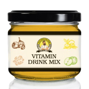Papy's Vitamin Drink Mixture – Lemon, Ginger, Garlic, Apple Cider Vinegar + Forest & Wildflower Honey [300ml]