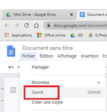 article modifier un PDF avec Google Drive https://www.par-le-temps-qui-court.fr par Magali Cochez