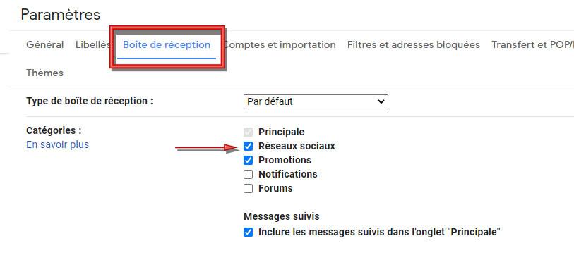 photo 2 article: Gmail et catégories https://par-le-temps-qui-court.fr Magali Cochez