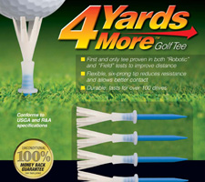 Best Golf Gifts Under $10 - 4 Yards More Golf Tee