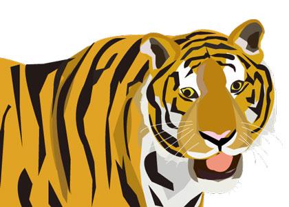 虎のイラスト(JPEG 背景白)