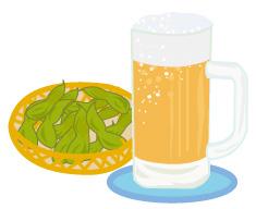 ビールと枝豆(JPEG)