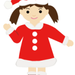サンタの女の子(PNG)