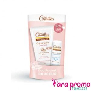 ROGE CAVAILLES Duo Pocket Douceur Crème Mains Douceur 30ML + Baume à Lèvres