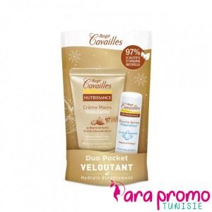 ROGE CAVAILLES Duo Pocket Veloutant Crème Mains Veloutante 30ML + Baume à Lèvres