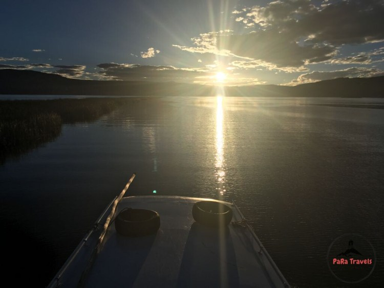 Sunrise lago titicaca