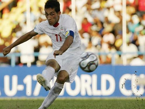پیام صادقیان کاپیتان تیم ملی فوتبال نوجوانان ایران