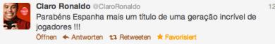 Tweet von Ronaldo