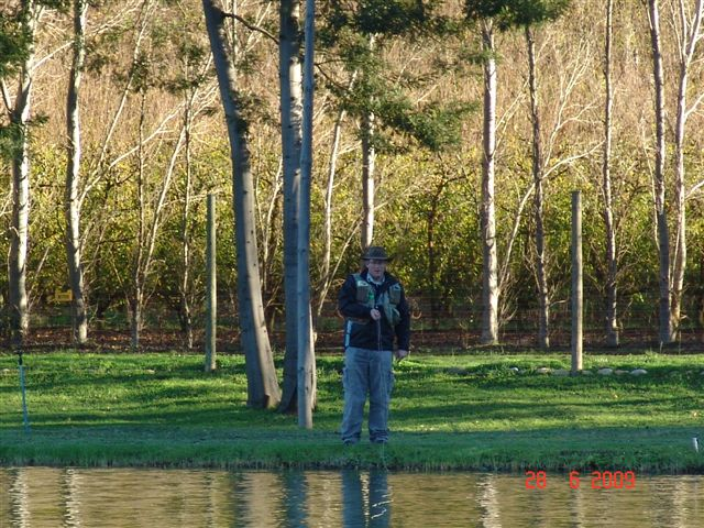 An angler in the gorgeously attractive surrounds of La Ferme in Franschoek.