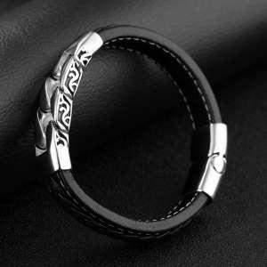 Leather Bracelet Box Chain