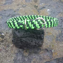 Neon Green and Black Dog Collar