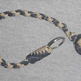 Black and Tan Camo Monkey Fist Keychain