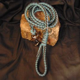 Turquoise and Diamonds, Teal and Black Leash