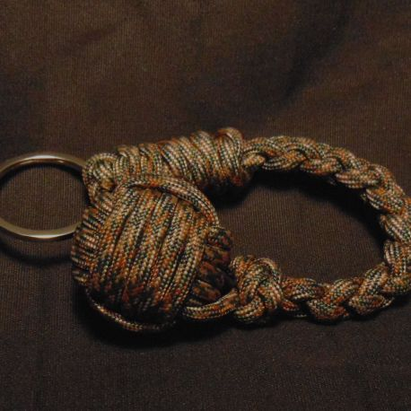 Fire Camo Paracord Monkey Fist