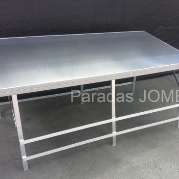 Mesa plegable de aluminio reforzada con inclinación MOD-10