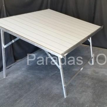 Mesa de aluminio plegable reforzada con inclinación para fruta MOD-9