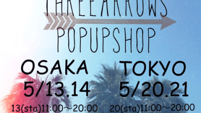 ThreeArrows POP UP SHOP