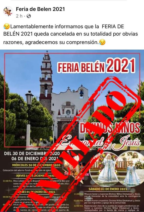 Feria de Belén 2021 Programa Completo Queda Cancelada la Feria de Belén 2021