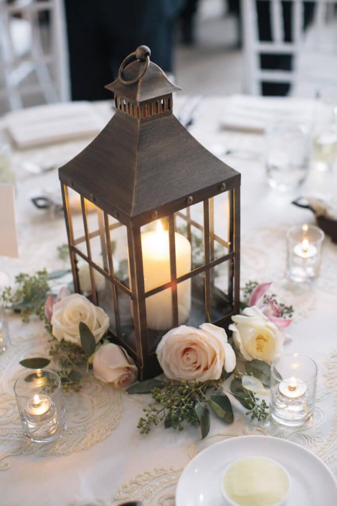 mesa para 15 años con candelabro