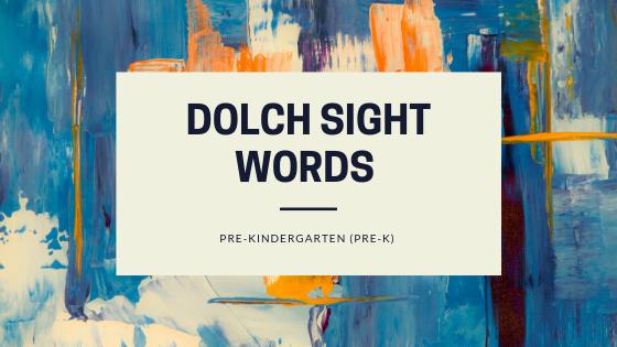 Sight Words: Pre-Kindergarten | Paradigm English