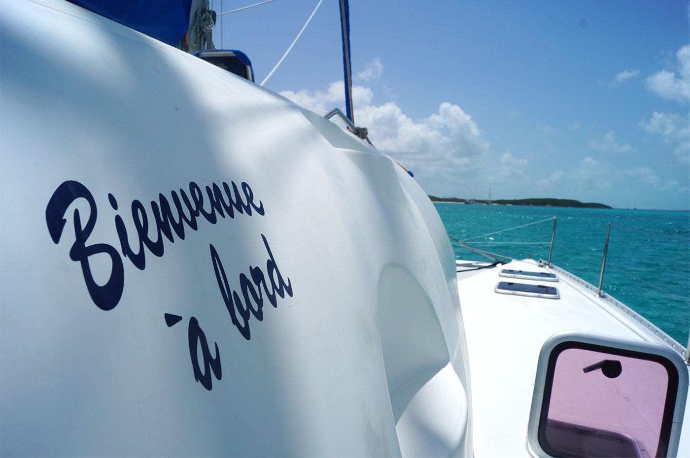 croisiere en catamaran aux bahamas avec un skipper