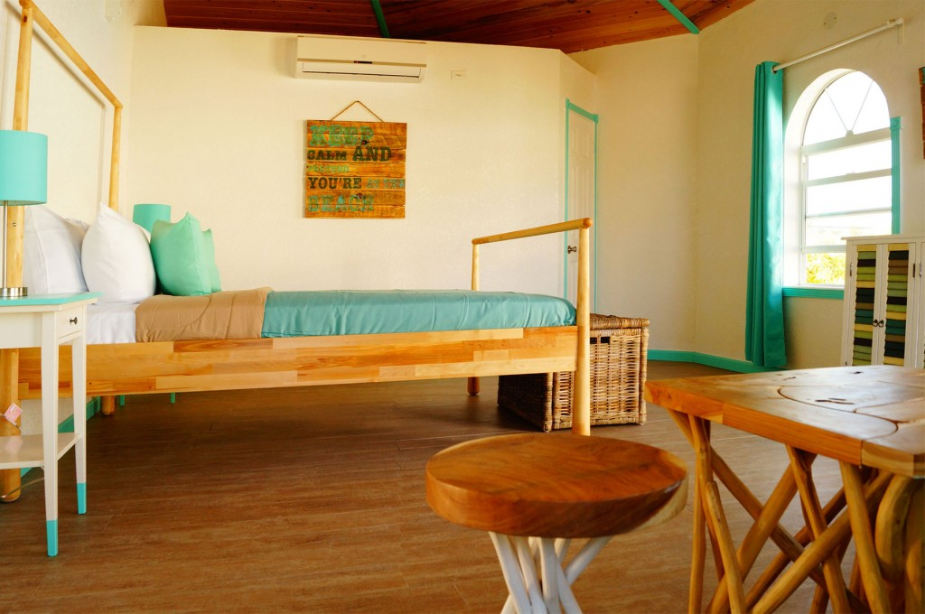 interior of the two bedroom cottage garden view in exuma