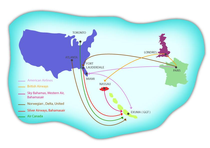 Air Canada fly to Exuma Bahamas