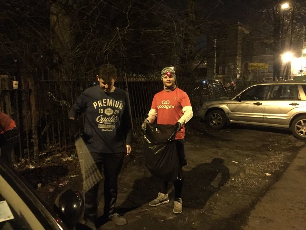 Litter Picking with GoodGym Wandsworth