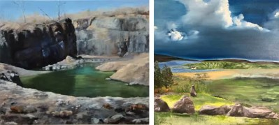 Landscape Paintings by Frankie Dack and Olwen Dowling