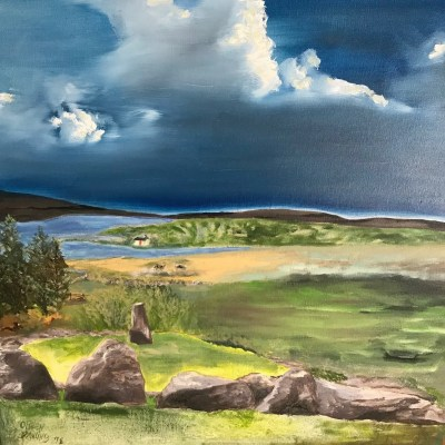 Reception for Frankie Dack and Olwen Dowling: landscape paintings