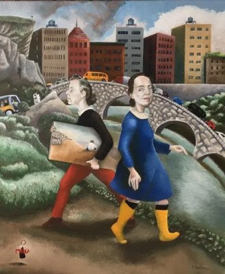 The Oxbow Gallery: Two Artists In The Front Gallery Reception