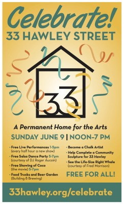 A Public Celebration at 33 Hawley Street, A Permanent Home for the Arts
