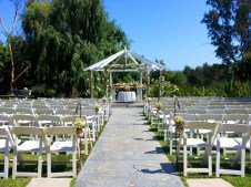 Ceremony at Gazebo at Paradise Gardens