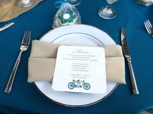 Menu Cards - The love cycling!
