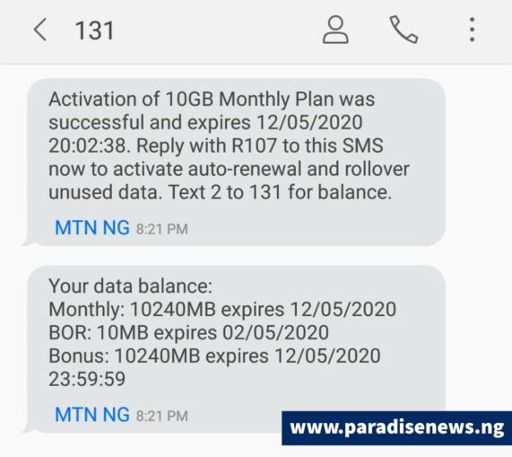 How To Get 20gb For 3500 9gb For 2000 On Mtn Network 100 Legit News And Entertainment