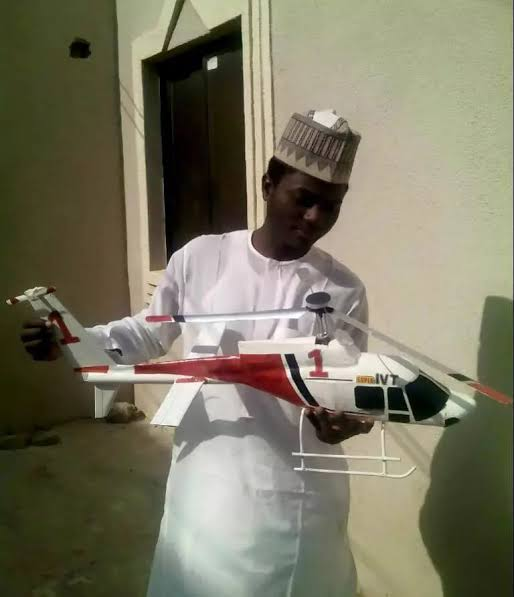 Meet Abdullahi Lawal from Kaduna who builds replica of Helicopter, Space Shuttles using scrap metals 1