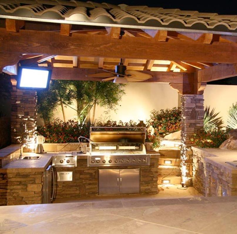 Custom Outdoor Kitchens Palm Beach | Kitchen Grills Palm ... on Backyard Kitchen Design id=84096