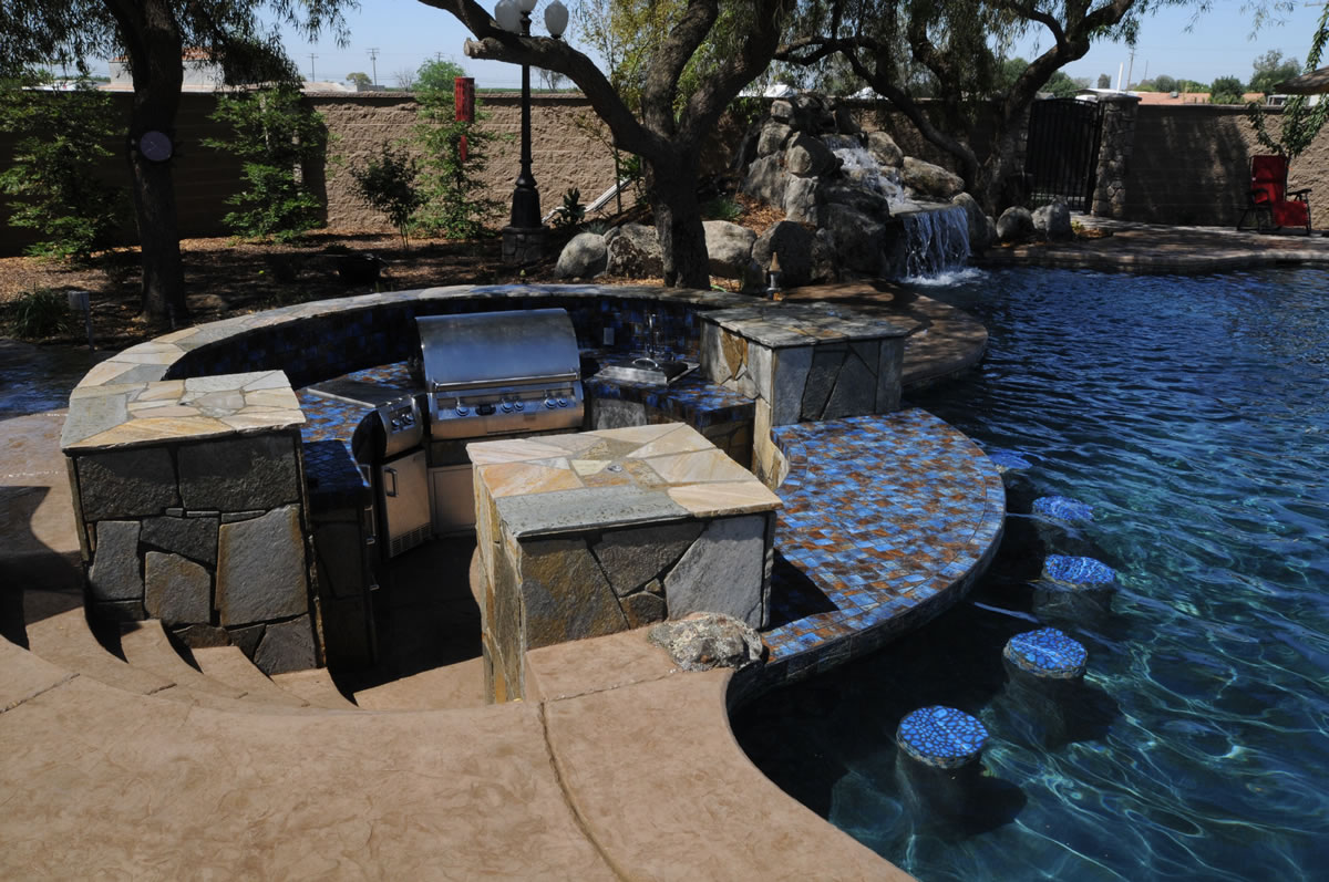 Patios, BBQ Island, Firepit Backyard Options Backyard ... on Backyard Patio Grill Island id=70483