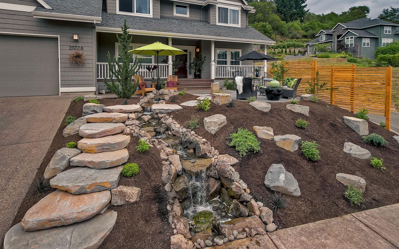 Front Yard Waterfall Ideas - Paradise Restored Landscaping on Front Yard Waterfall Ideas id=69428
