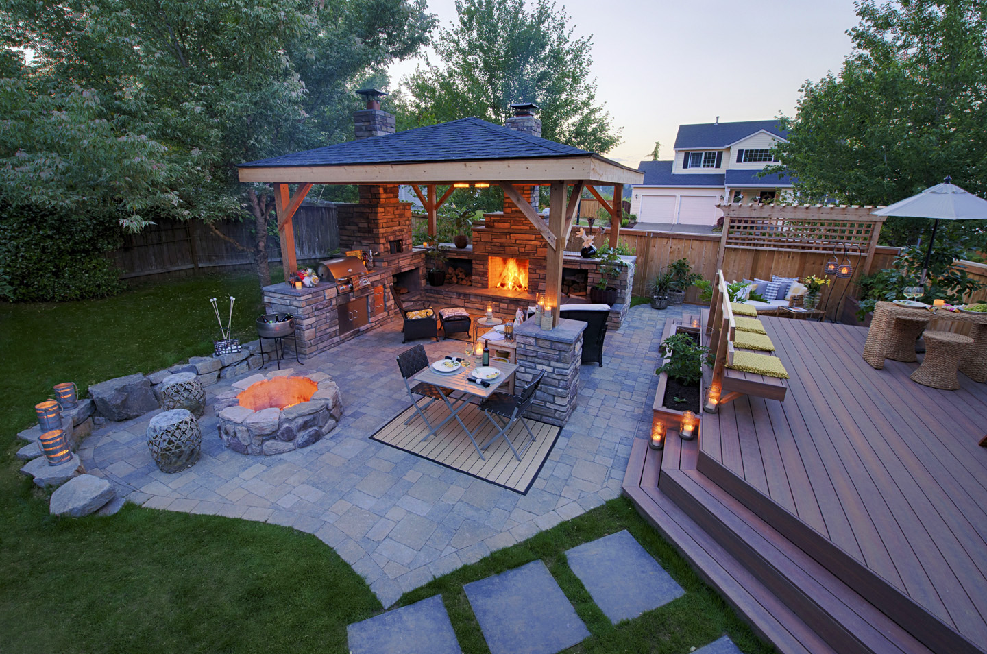 Backyard Deck Ideas - Paradise Restored Landscaping on Covered Back Deck Designs id=93198