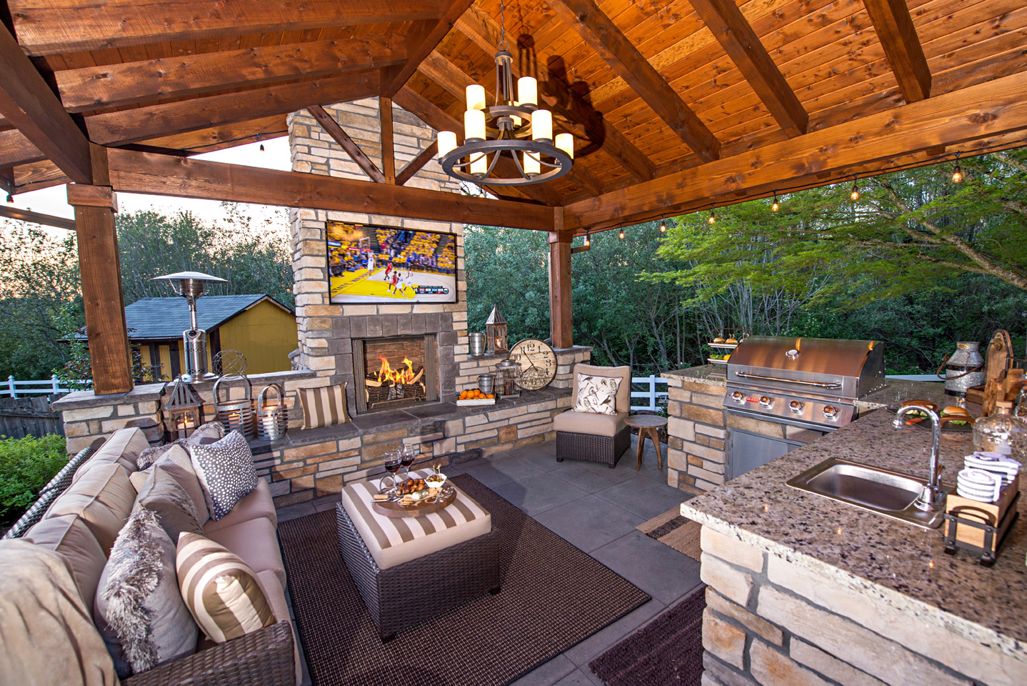 outdoor living room paradise restored