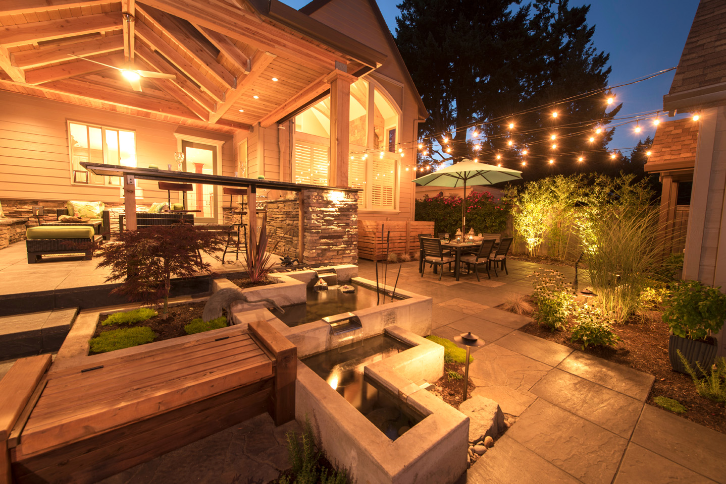 Low Voltage Outdoor Lighting Paradise Restored Landscaping